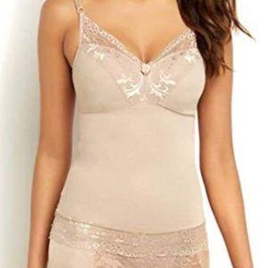 Rhonda Shear Camisole Pin Up Lace Nude Small